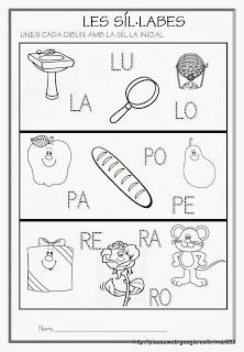 Educació Infantil Brimar: FITXES DE SÍL·LABES