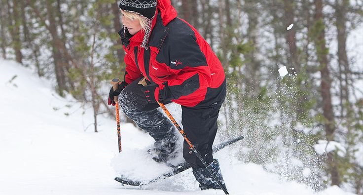 Snowshoeing. Enjoy a brisk snowshoe excursion in wintery Rokua Geopark! Activities.   Rokua Health & Spa Hotel. Finland.