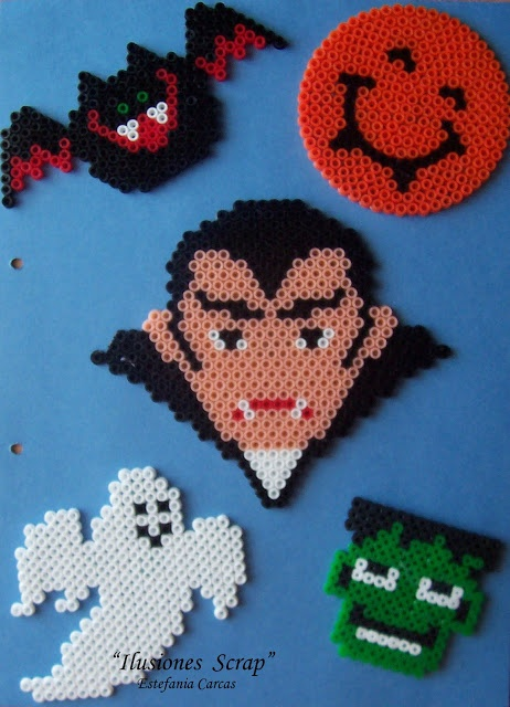 Halloween hama beads by ILUSIONES SCRAP - http://www.mariadiazdesigns.com/mdd/shop.php?showid=233