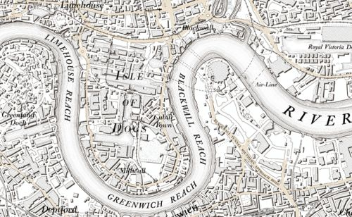 Leftover London / London now in 1801 map style