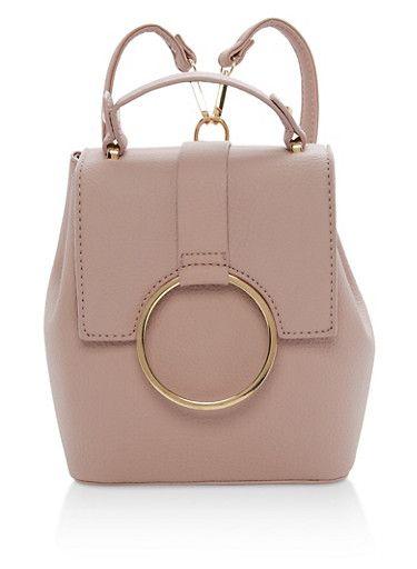 Mini Satchel Backpack,MAUVE