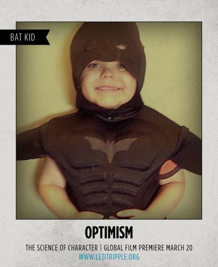 Bat Kid reminds us to be #optimistic :) #CharacterDay letitripple.org