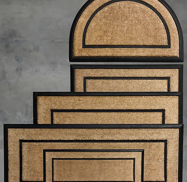 Restoration Hardware Look Alikes Restoration Hardware Coir With Rubber Frame Door Mats 59 79