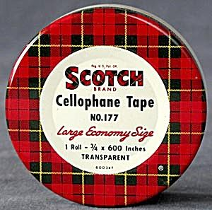 Scotch Cellophane Tape Tin. Click on the image for more information.