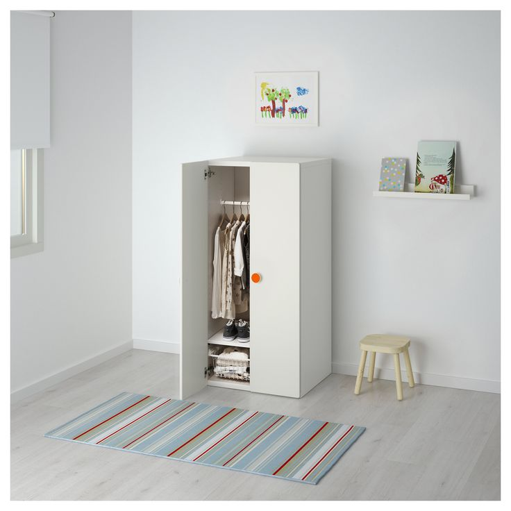 IKEA Wardrobe STUVA/FÖLJA White £51 60x50x128 cm Article no: 391.805.52 The price reflects selected options View more product information With the included colourful stickers, you can quickly label drawers and cabinets in your own personal way.