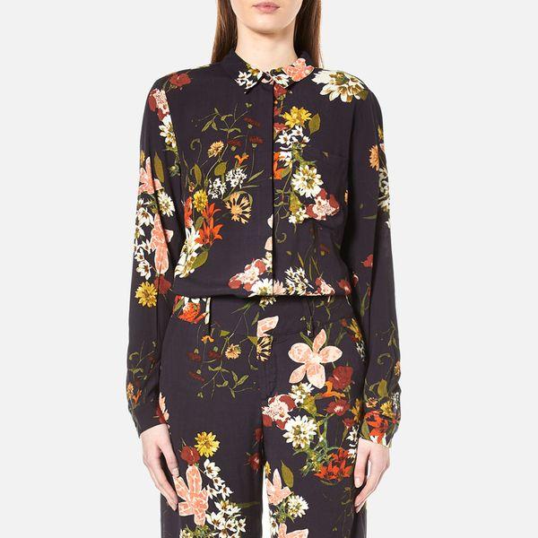 Gestuz Women's Cally Floral Print Shirt - Multi Colour Flower