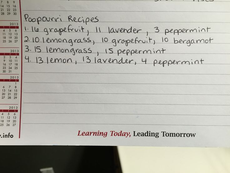 Poopourri recipes