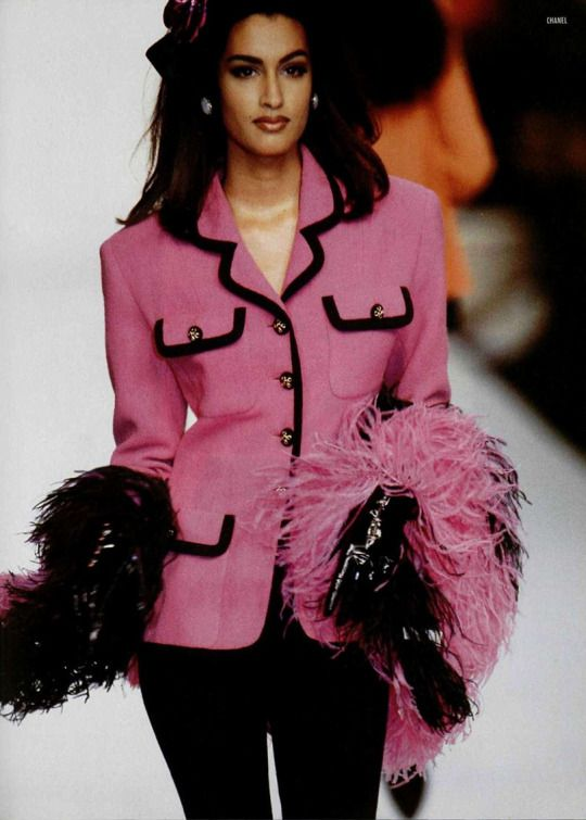 Yasmeen Ghauri 90s Chanel