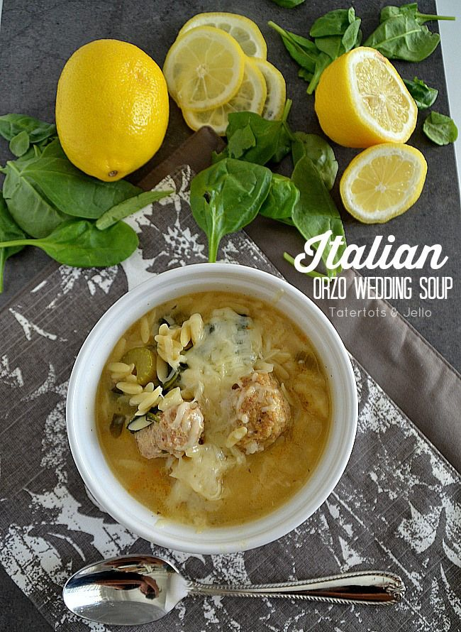 Homemade Italian Orzo Wedding Soup! -- Tatertots and Jello