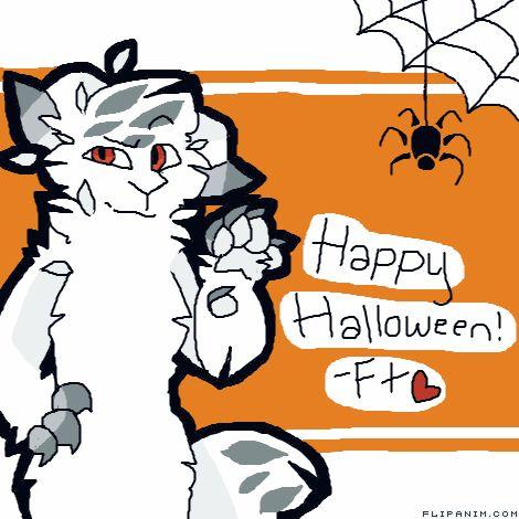 Happy Halloween <3 by FurryTrash #gif #anim #animation #flipanim #flipbook #drawing #draw