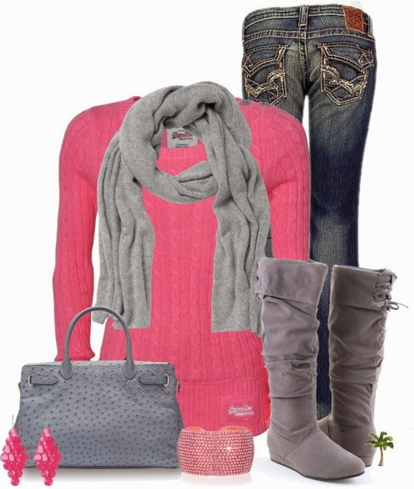 Casual OutfitColors Combos, Woman Fashion, Casual Outfit, Fall Style, Clothing, Bubbles Gum, Pink, Fall Outfit, Cute Winter Outfit