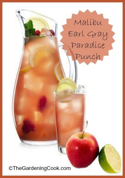Malibu Earl Gray Paradise Punch combines traditional Earl Grey Tea (will Delight your English buddies) and Malibu original rum.