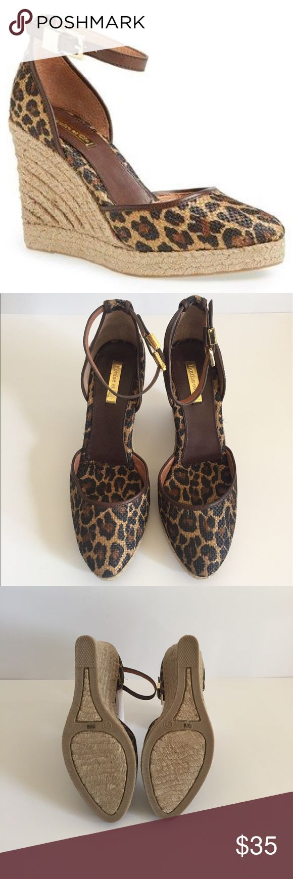 Louise et Cie - Leopard Espadrille Wedge Fun!  Comfortable!  Perfect for summer...wear with any outfit.  NWOT.  Never been worn.  Louise et Cie (Vince Camuto). Vince Camuto Shoes Wedges