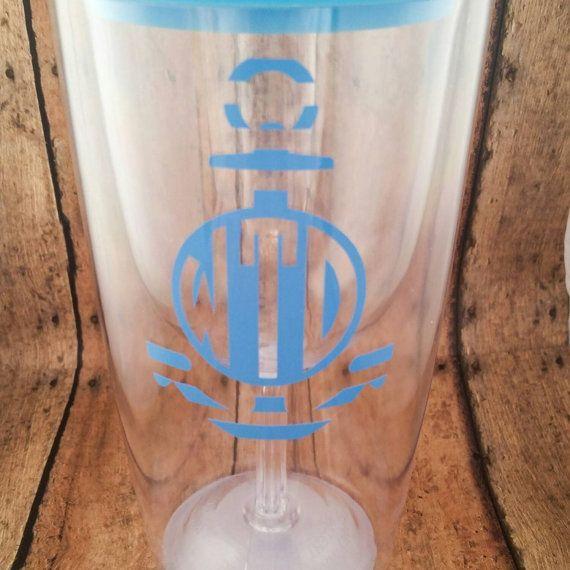 Monogrammed Wine To Go Cup Wine Tumbler Acrylic Wine