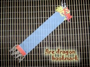 Chinese Fire Dragon Bookmark