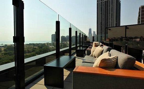 The J Parker rooftop bar Chicago