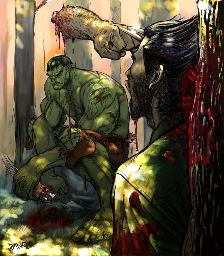 Hulk vs Wolverine. Epic!