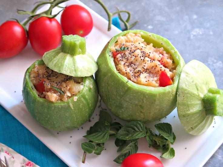 #zucchine ripiene di #quinoa #zucchini quinoa #filled