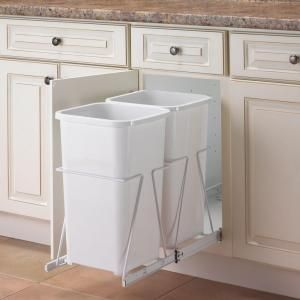 Knape & Vogt, 19 in. x 11.38 in. x 23 in. In Cabinet Pull Out Trash Can, PRC12-2-27-R-W at The Home Depot - Mobile