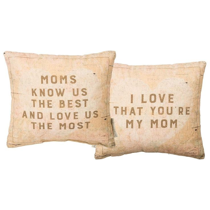 ''My Mom'' Reversible Small Throw Pillow, White
