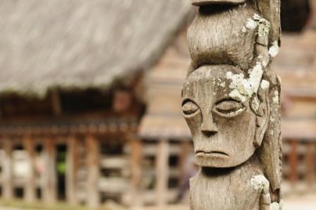 Batak dorpje Pematang Purba, Sumatra