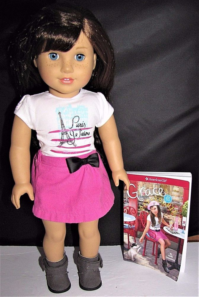 American Girl Grace Thomas Doll 2015 & Book FREE PRIORITY MAIL SHIPPING #AmericanGirl