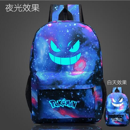 Find More Backpacks Information about Men's Backpack Pokemon Gengar Backpack Galaxy Luminous Printing Backpack Animation Backpack School Bags Teenagers Mochil MN63,High Quality Backpacks from MinongTrading Co. Store on Aliexpress.com