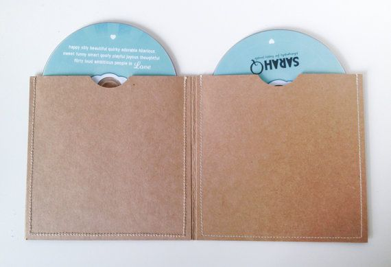 DVD Cases / Sleeves Set of 8 Double DVD by sarahQhappybooths