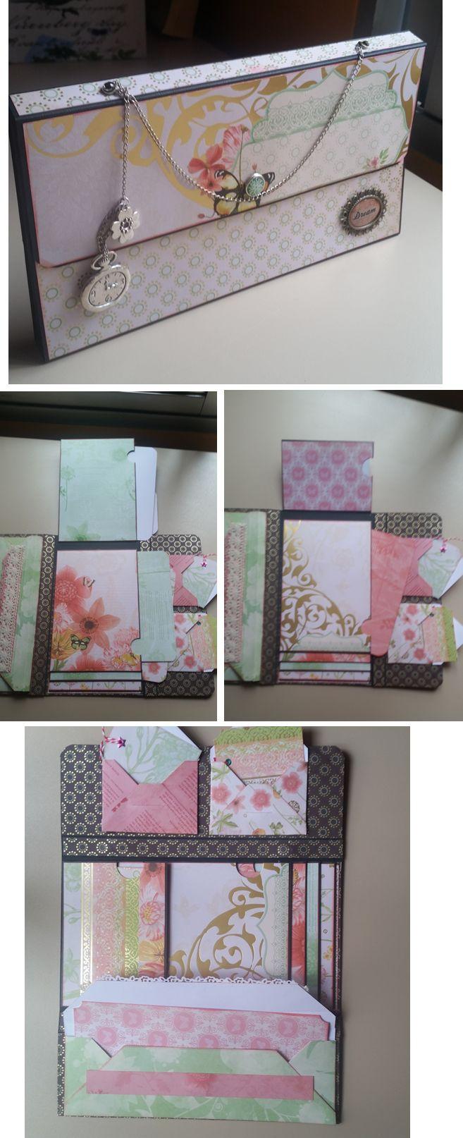 """Mini - álbum bolso con el tuto de Alagaina Scrap y la colección """"The Butterfly Garden"""" de DCWV"""