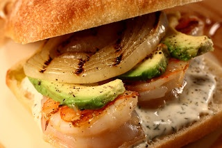 Panino di Gamberi alla Griglia.....Now this sandwich looks YUMMY!!!