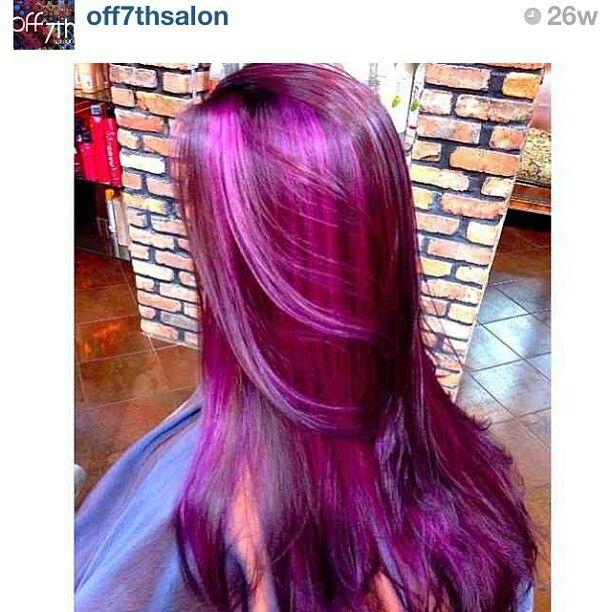 ... Highlights, Hair Colors, Purple Pink, Hair Style, Hair Nails, Burgundy