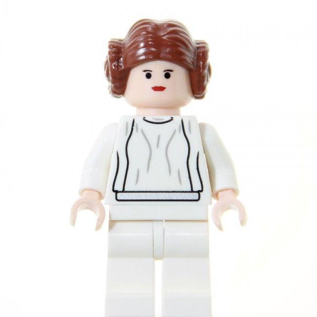 Princess Leia  set: 10179 - Millennium Falcon (version 2007) • 10188 - Death Star (version 2008) •  10198 - Tantive IV  sw175 (2007)