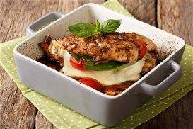 Γεμιστά φιλέτα κοτόπουλου με σάλτσα βαλσάμικου