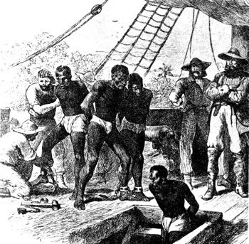 Slaves were brought from West Africa to work on Sugar Plantations