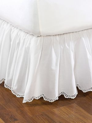 Crochet Edge Bedskirt Collection | linensource