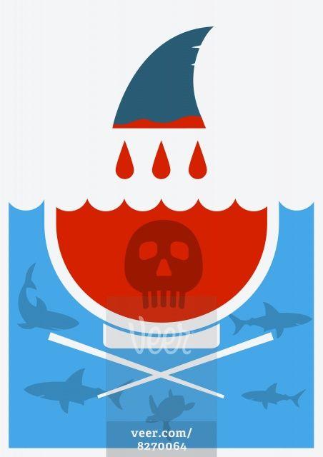 Stop shark finning soup.Vector illustration Stock Illustration