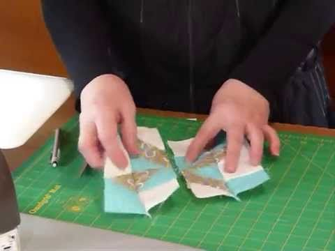 "A simple block using 2 1/2"" squares: How to make a Clay's Choice block - Quilting Tips & Techniques 144"