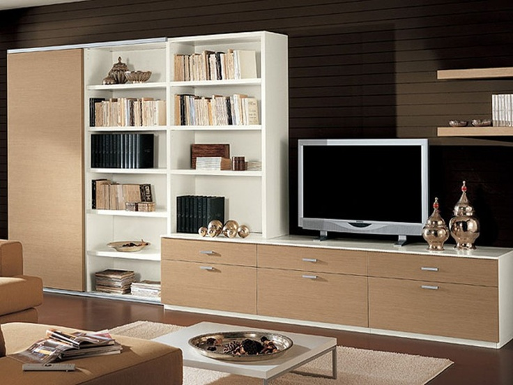 Nice Arrangement Of Bookcases And Tv Unit Living Rm