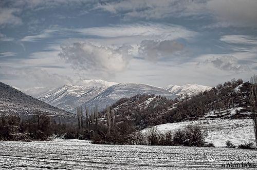 winter, mountain, snow