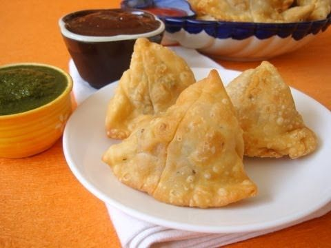 Punjabi Samosa Recipe -  Punjabi samosa is one of the all-time favourite snacks from north India. It is a real pleasure eating samosas over chit-chat with your family and friends with some nice home made coriander and mint chutney and tea or coffee. Its fairly easy to make and you can create your own variation by adding green peas, paneer, or for non-vegetarians, some shredded chicken.This recipe takes you through the pleasure journey of creating an amazing Punjabi samosa.