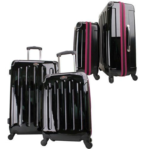 Swiss Case 28″ BLACK/PURPLE 4 Wheel Hard Suitcase + FREE Carry-on 20″ luggage set. Read more at http://www.zone355.com/swiss-case-28-blackpurple-4-wheel-hard-suitcase-free-carry-on-20-luggage-set/