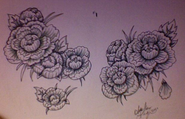 Photo Realistic Flower Tattoos Google Search: Pink Carnation Tattoo Sketches - Google Search