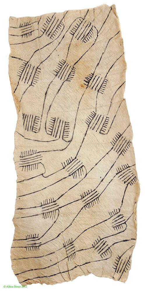 I love this pattern! Pygmy/Mbuti Barkcloth from Ituri Rainforest, DR Congo
