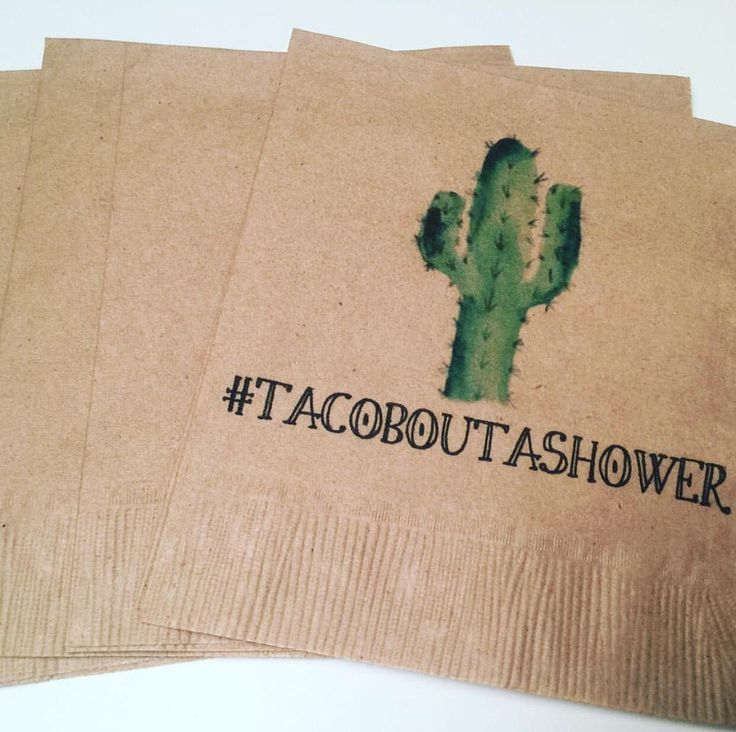 Set of 25 Kraft Taco Bout a Shower #tacoboutashower Cactus Bridal Fiesta Birthday Fiesta Succulent Baby Shower Cocktail Napkins by SparkleandSparrow on Etsy https://www.etsy.com/listing/530735079/set-of-25-kraft-taco-bout-a-shower