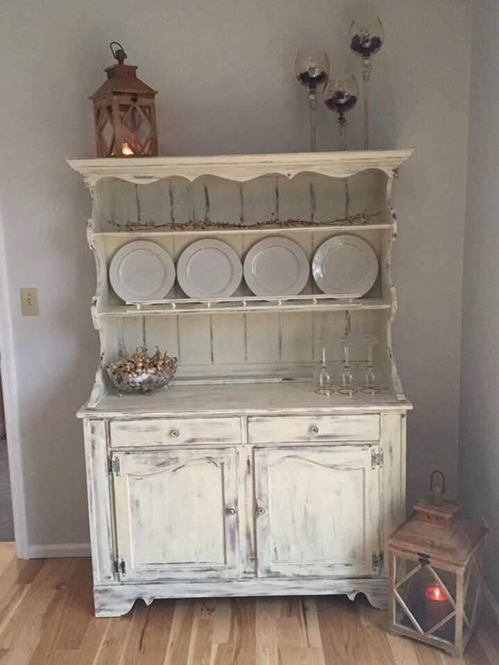 "Vintage Ethan Allen Hutch painted with Annie Sloan ""Old ..."