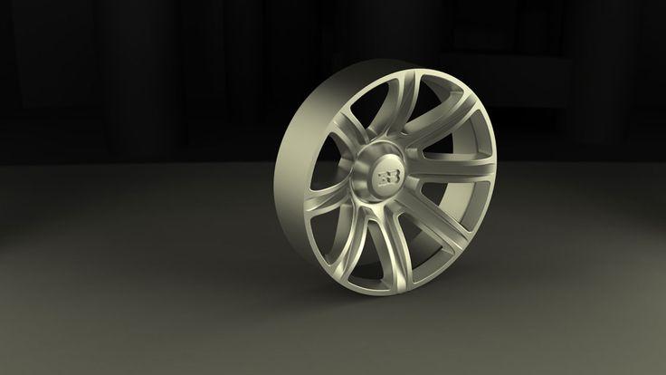 Bugatti Aerolithe Concept Wheel Redering