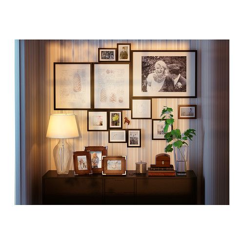 RIBBA Frame IKEA Shadow box frame. The image can sit against glass or be recessed. The mat enhances the picture and makes framing easy.