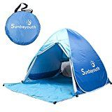 Beach Tent, Sunba Youth Pop Up Tent Beach Umbrella, Easy Up Beach Tents, 90% UV Protection Sun Shelter, Beach Shade for Baby