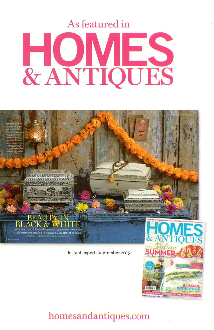 Opium has been featured in the September issue of Homes & Antiques magazine!