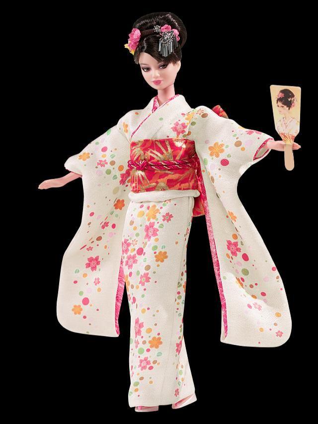 *La Barbie Internacional--->Muñecas Barbie De Diferentes Partes Del Mundo*   20Minutos (Listas) traje japones